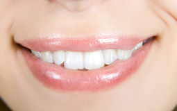 Smiling woman mouth Royalty Free Stock Images
