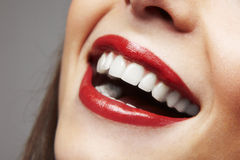 Smiling woman mouth with great teeth Stock Photography