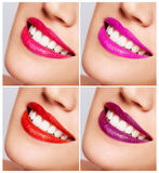 Smiling woman mouth with great teeth Close up. Royalty Free Stock Photos