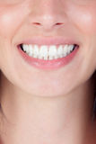 Smiling woman mouth with great teeth Royalty Free Stock Image