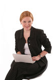 Smiling woman with notebook Royalty Free Stock Image