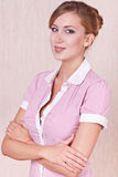 Smiling woman office manager Royalty Free Stock Image