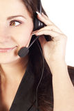 Smiling Woman Operator With Headset Royalty Free Stock Image