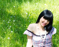 Smiling woman outdoor Royalty Free Stock Images