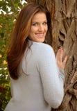 Smiling woman outdoors Stock Photos