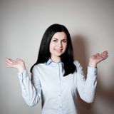 The woman parts hands in the parties Stock Image