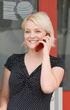Smiling Woman on Phone Royalty Free Stock Image