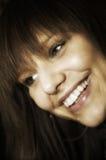 Smiling woman portrait stock image