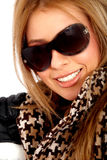 Smiling woman portrait - sunglasses Royalty Free Stock Photography