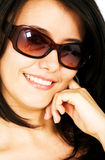 Smiling woman portrait - sunglasses Stock Photography