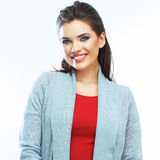 Smiling woman portrait.  on white Royalty Free Stock Image