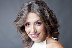 Smiling woman portrait stock photos