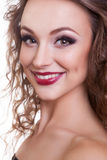 Smiling woman with professional make up Royalty Free Stock Photo