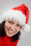 Smiling woman in red cap Royalty Free Stock Image