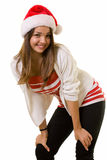 Smiling woman in Santa hat Stock Photos