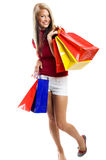 Smiling woman at shopping Royalty Free Stock Images