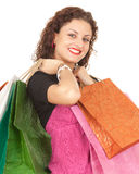 Smiling woman with shopping bags Royalty Free Stock Images