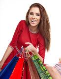 Smiling woman with shopping bags, Royalty Free Stock Photo