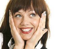 Smiling Woman Showing Her Teeth Stock Images