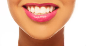 Smiling woman smile with great teeth. Royalty Free Stock Photos