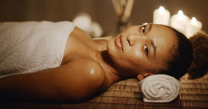 Smiling Woman In A Spa Royalty Free Stock Photography