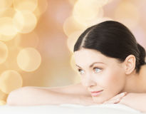 Smiling woman in spa salon Stock Image