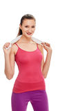 Smiling woman After sport training Royalty Free Stock Image