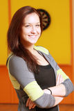Smiling woman in sportswear Royalty Free Stock Photos