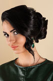 Smiling woman with stylish hairstyle Royalty Free Stock Photos