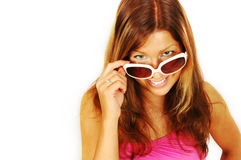 Smiling woman in sunglasses Royalty Free Stock Images