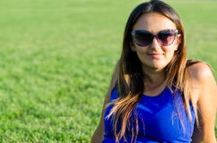 Smiling woman in sunglasses Stock Photos