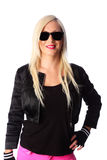 Smiling woman in sunglasses Royalty Free Stock Photo