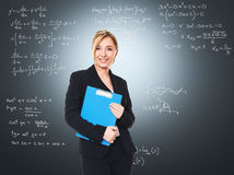 Smiling woman teacher Royalty Free Stock Photo