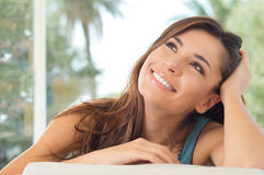 Smiling Woman Thinking Royalty Free Stock Image