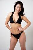 Smiling woman wearing a bikini Stock Image