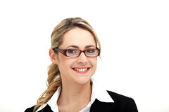 Smiling woman wearing modern spectacle Royalty Free Stock Image