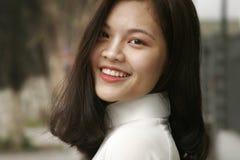 Smiling Woman Wearing White Turtleneck Top Royalty Free Stock Photo