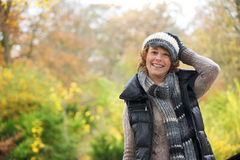 Smiling Woman Wearing Winter Hat Royalty Free Stock Photography