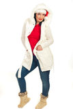 Smiling woman in winter clothes Stock Photo