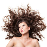 Smiling Woman With Perfect Hair Royalty Free Stock Image