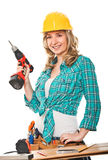 Smiling woman at work Royalty Free Stock Images