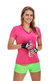 Smiling woman After workout Royalty Free Stock Image