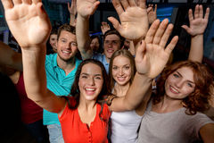Smiling women dancing in club Stock Photos