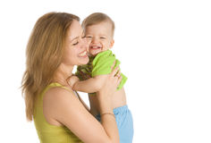 Smiling women with her child Royalty Free Stock Image