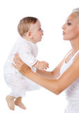 Mother with baby boy Stock Images