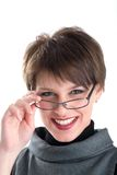 Smiling Women In Black Costume Stock Photography