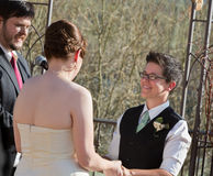 Outdoor Civil Union Ceremony Royalty Free Stock Photo