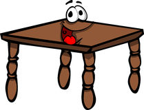 Smiling wooden table Royalty Free Stock Images