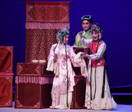 "Smiling without a word behind the scenes-Kunqu Opera ""the West Chamber"" Royalty Free Stock Image"