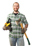 Smiling worker Stock Images
